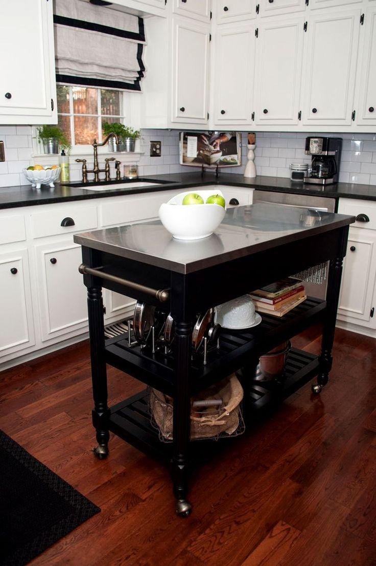traditional utility carts kitchen utility table 50 Gorgeous Kitchen Island Design Ideas