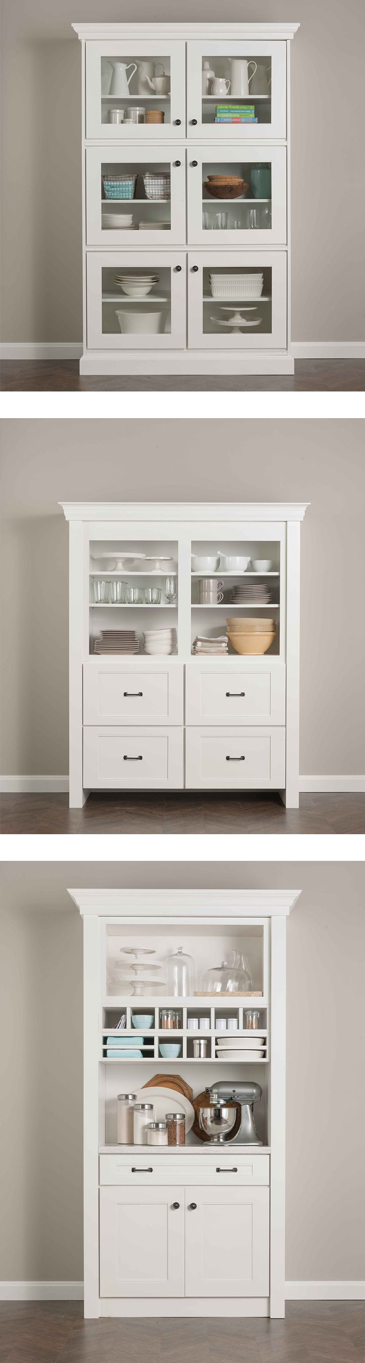 kitchens and dining rooms martha stewart kitchen cabinets Creative Design Tip Create standalone pieces like this hutch using Martha Stewart Living Kitchen Cabinetry from They have the beauty and detail of