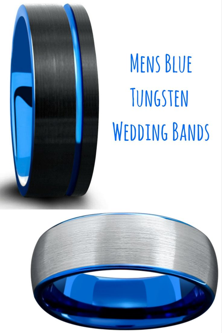 tungsten wedding bands blue tungsten wedding bands Mens blue tungsten wedding bands Both of these rings are designed with a brushed tungsten
