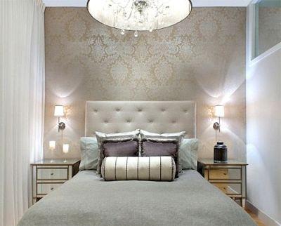 Lorenzo Damask wallpaper, Gabrielle Embroidery bolster pillow | SCHUMACHER | Pinterest | Guest ...
