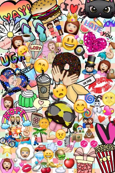 Fondo de pantalla creado por mi #emojis -NancyR. | Wallpaper | Pinterest | Follow me, Collage ...