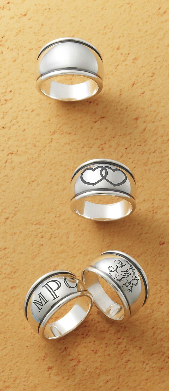 james averylove james avery wedding bands Tapered Dome Signet Ring with engraving jamesavery