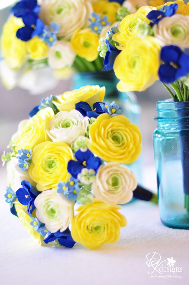yellow wedding flowers flowers for weddings Blue and Yellow Wedding Flowers wedding invitations which also highlighted the blues