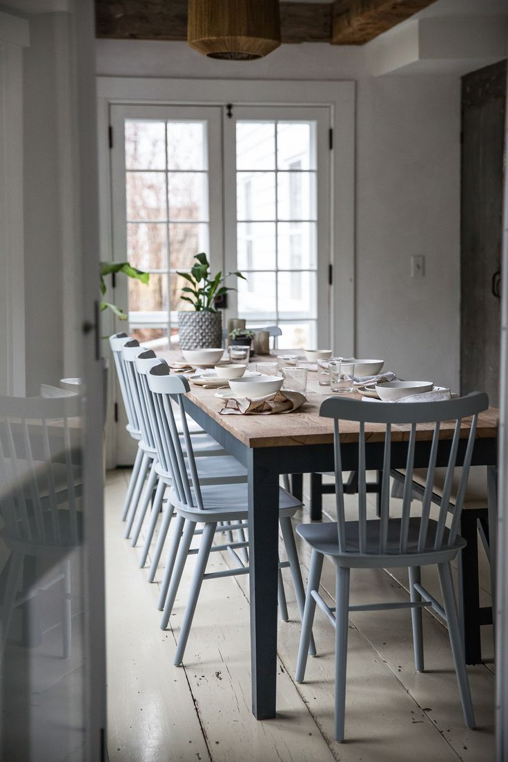 kitchen chairs blue kitchen chairs Home Inspiration Hudson Valley House by Jersey Ice Cream Co Fawn Country Dining Room ChairsDining