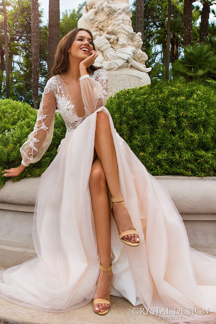 bride dressing gown wedding dressing Crystal Design Wedding Dresses Haute Couture Bridal Collection