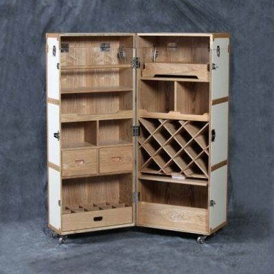 Vintage Steamer Trunk Style Folding Drinks Cabinet Saw one ...