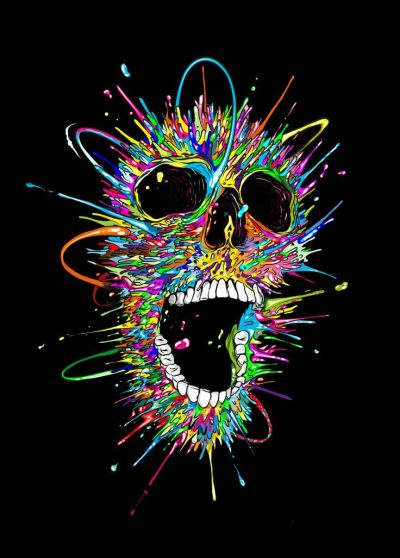 Seher One www.seherone.com SKULL | My work | Pinterest | Skull design, Psychedelic and Skull artwork