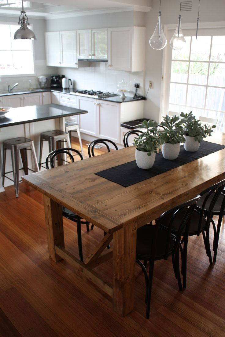 dining table runners rustic kitchen table Rustic Dining Table pairs with Bentwood Chairs