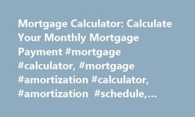 Best 20+ Amortization Schedule ideas on Pinterest | Mortgage amortization calculator, Mortgage ...