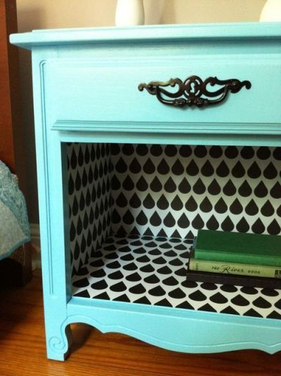 take out the bottom drawer, and wallpaper the inside. I love the way this looks! | Home Decor ...