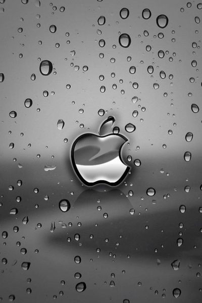 Apple rain iphone 4 wallpaper and iphone 4s wallpaper ...