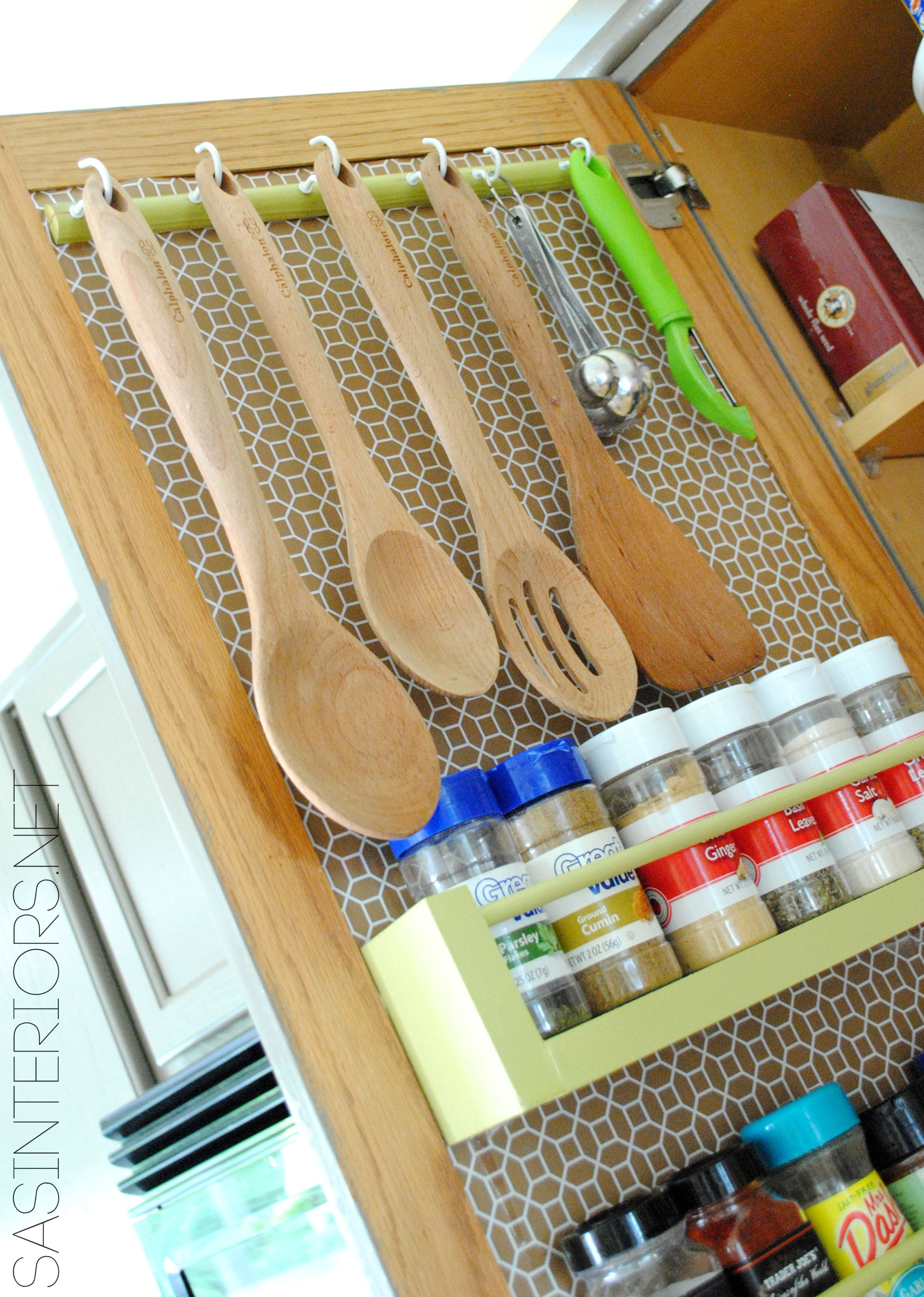 rv kitchen cabinets Kitchen Organization Ideas for storage on the inside of the kitchen cabinets by Jenna Burger