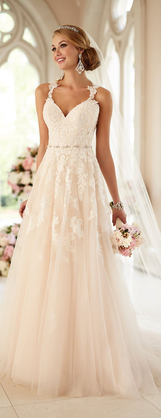 straight wedding dresses 50 Beautiful Lace Wedding Dresses To Die For