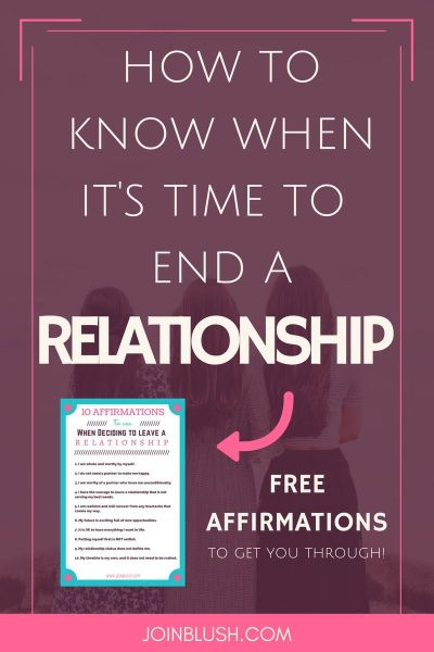 How to Know When It's Time to End a Relationship | Breakup motivation, Breakup advice and ...