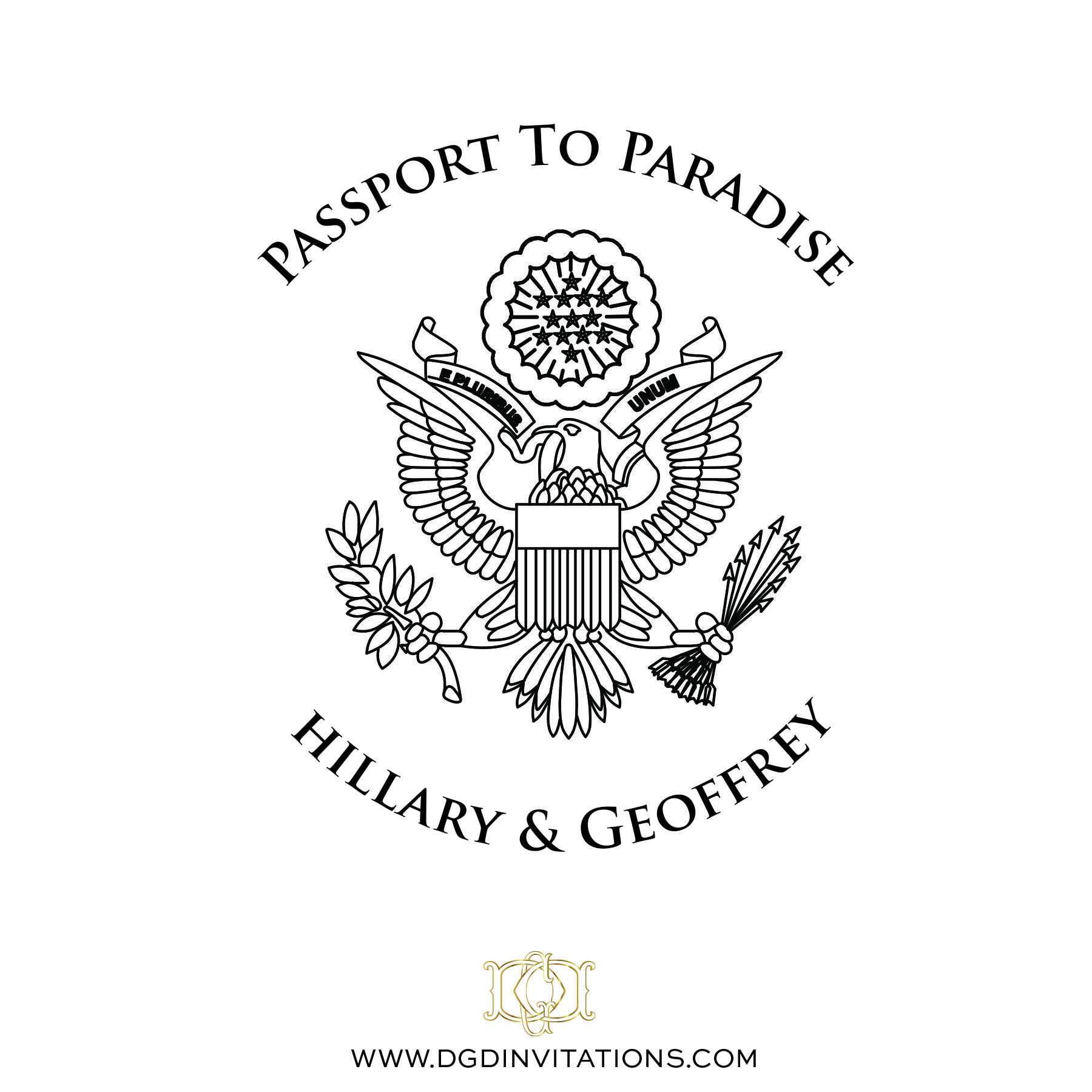 wedding invitation stamps Custom Rubber Stamp Passport to Paradise Wedding Invitation Cover Save The Date DIY Boarding Pass