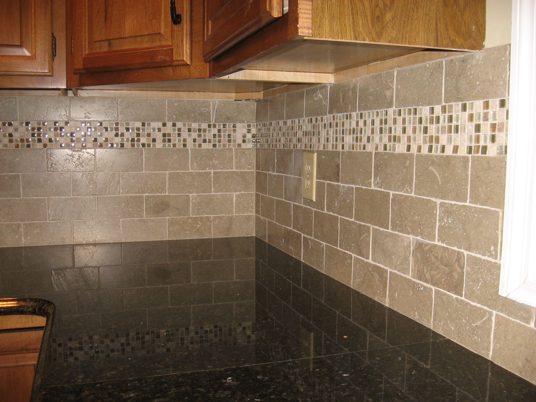 back splash kitchen backsplash subway tile subway tiles with mosaic accents backsplash with tumbled limestone subway tile and