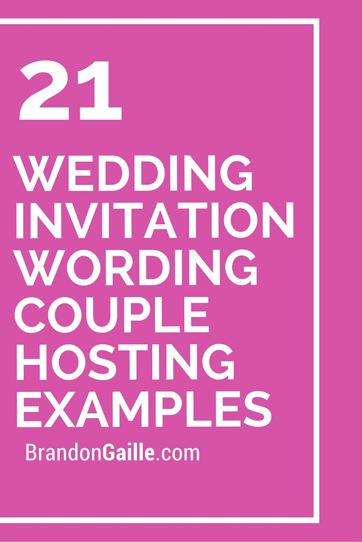 wedding invitations examples 21 Wedding Invitation Wording Couple Hosting Examples