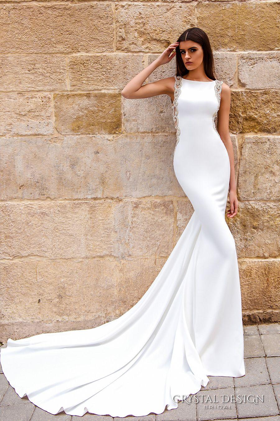 low back wedding dress Crystal Design Wedding Dresses