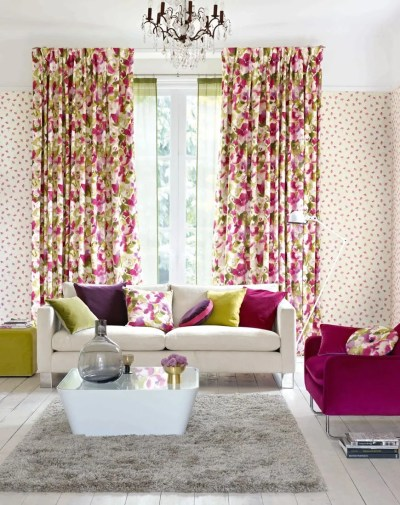 Matching Wallpaper And Curtains For Living Room - Homebase ...