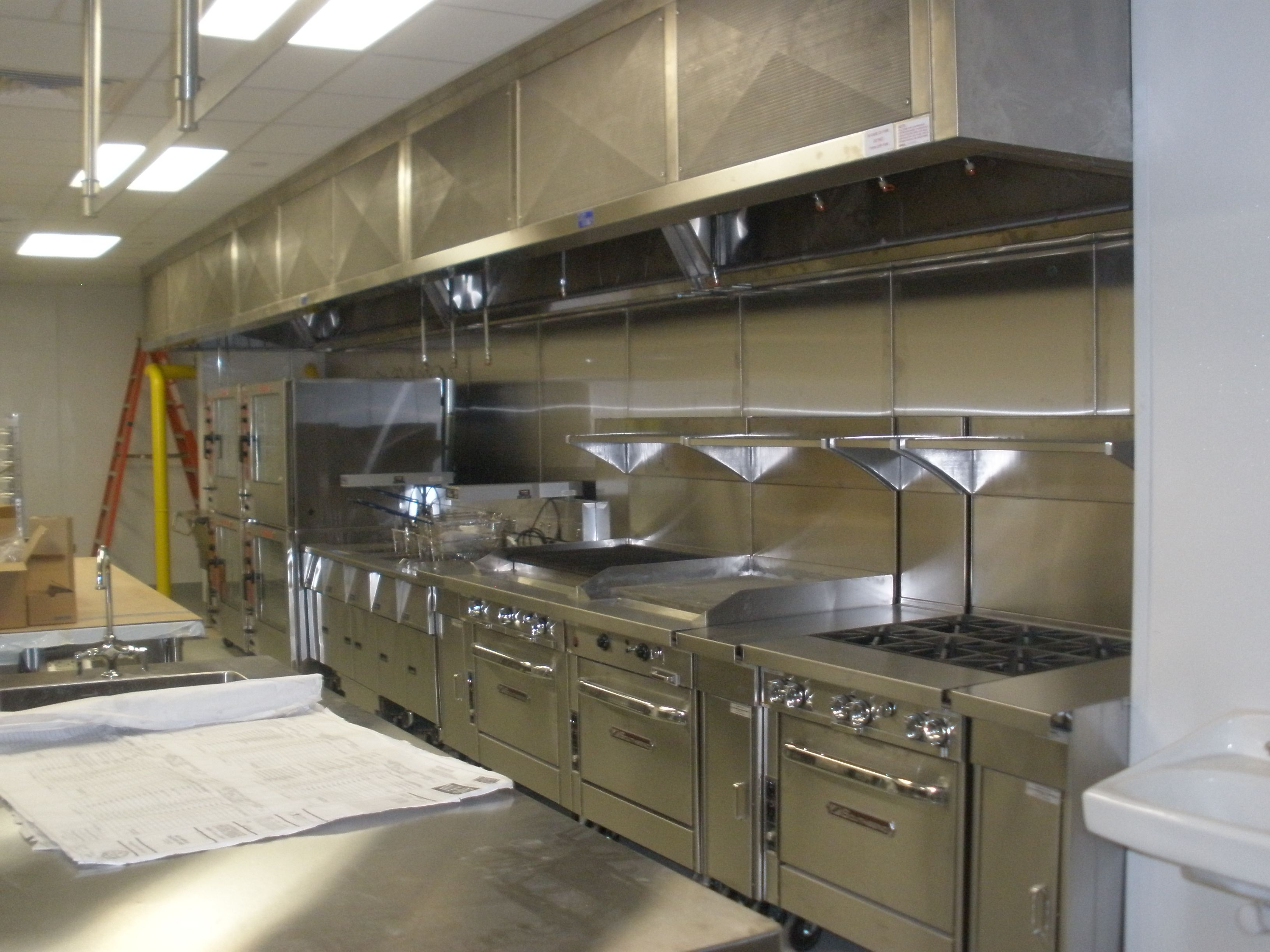 commercial kitchen design Engaging Cafe Kitchen Layout Design Commercial Picture Of In