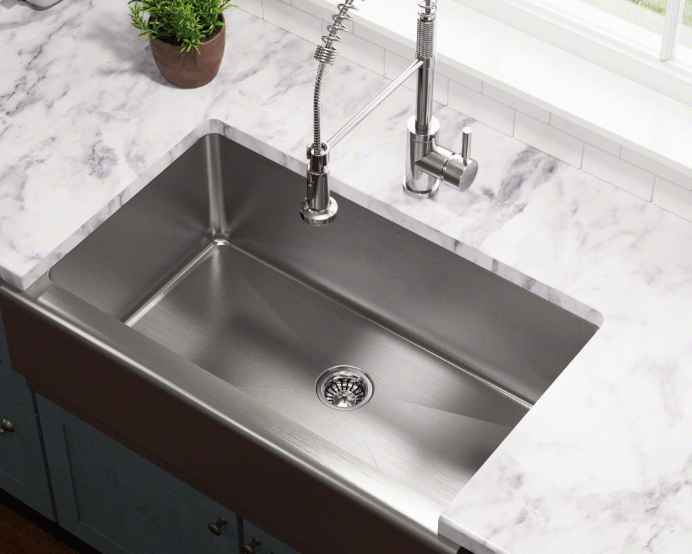 stainless kitchen sinks Apron style sinks especially stainless steel are becoming a popular choice for today