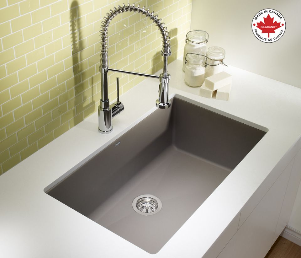 blanco kitchen sinks Keep clean with this BLANCO PRECIS U SUPER SINGLE SILGRANIT sink in truffle along