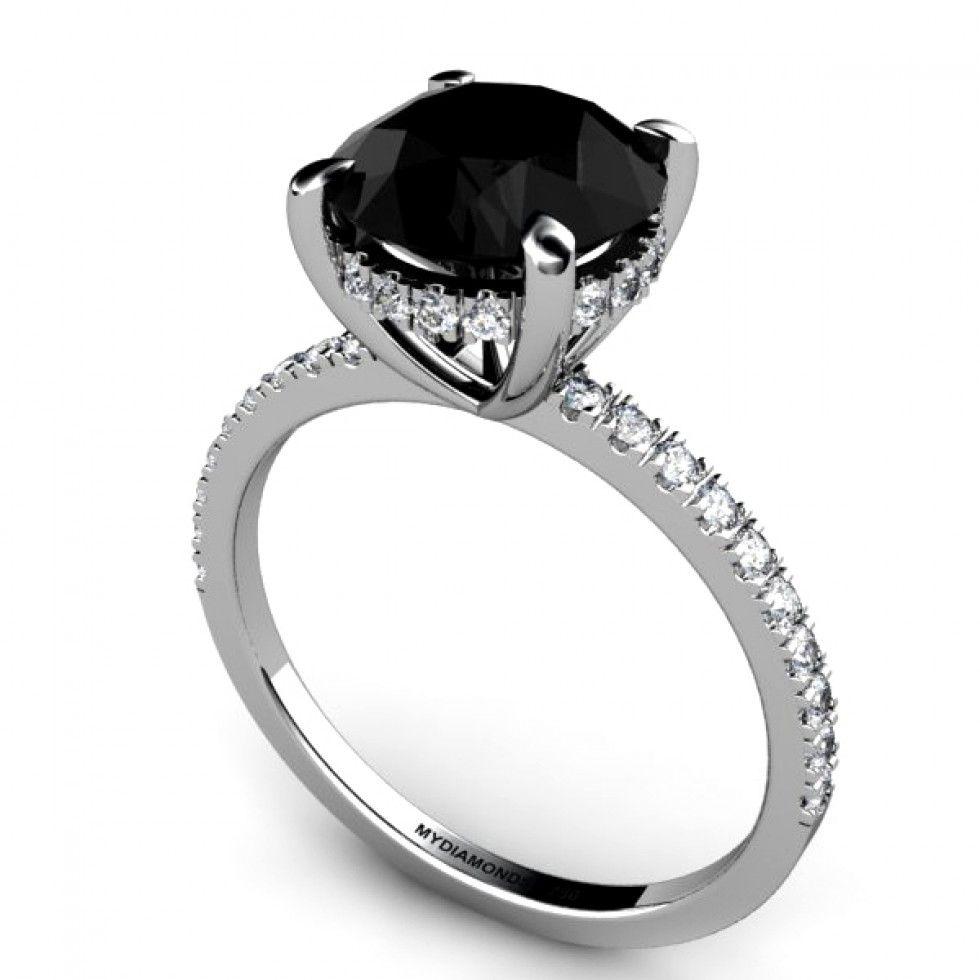 wedding ring diamond black diamond engagement ring Google Search