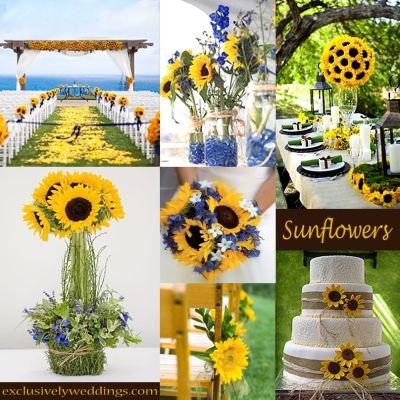 Sunflower Wedding Decorations on Pinterest