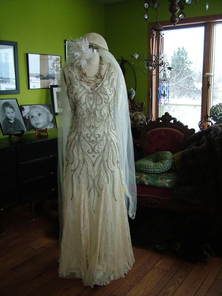 s wedding dress Beaded deco Vines s style Wedding Dress verytreschic com retrovintageweddings on etsy verytrescchicweddings com