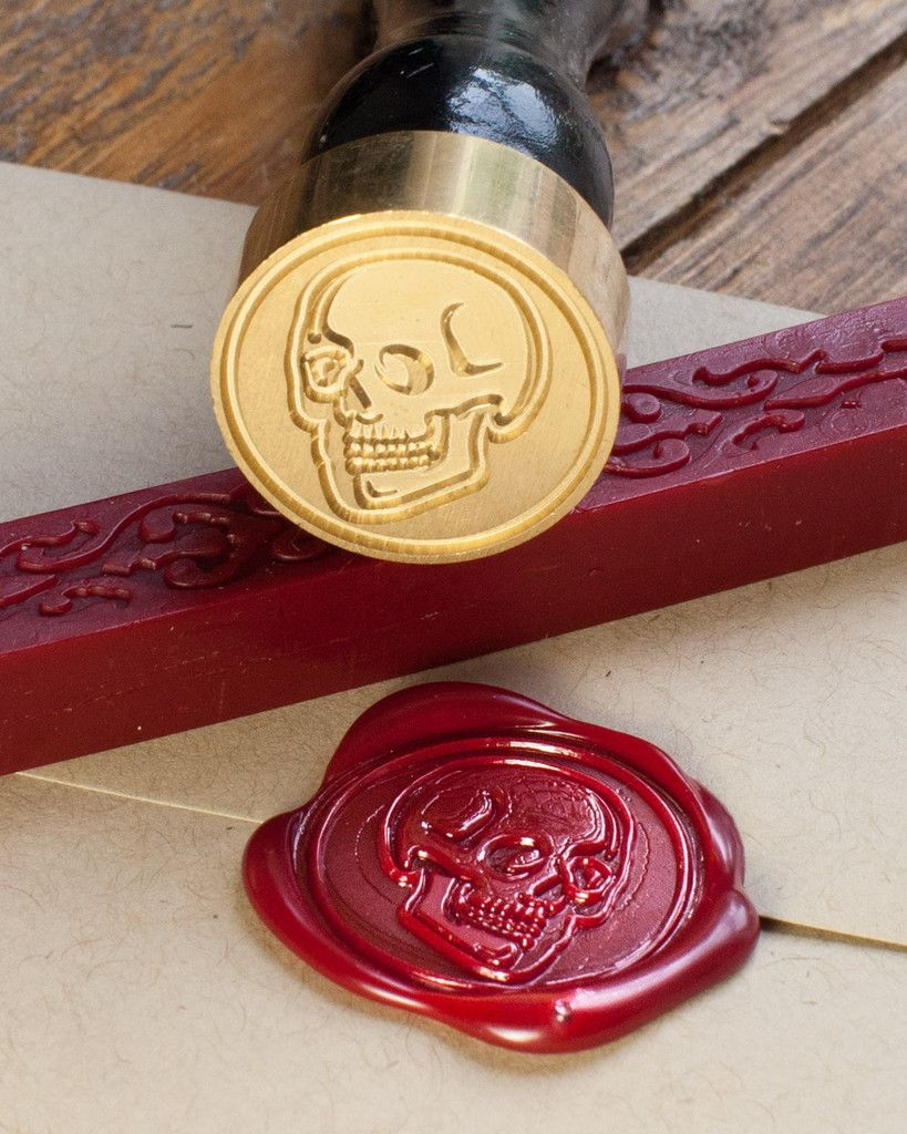 skull wedding invitations Seal your letters halloween party invites or anatomically themed wedding invitations with this anatomical skull wax seal kit These sealing wax kits make