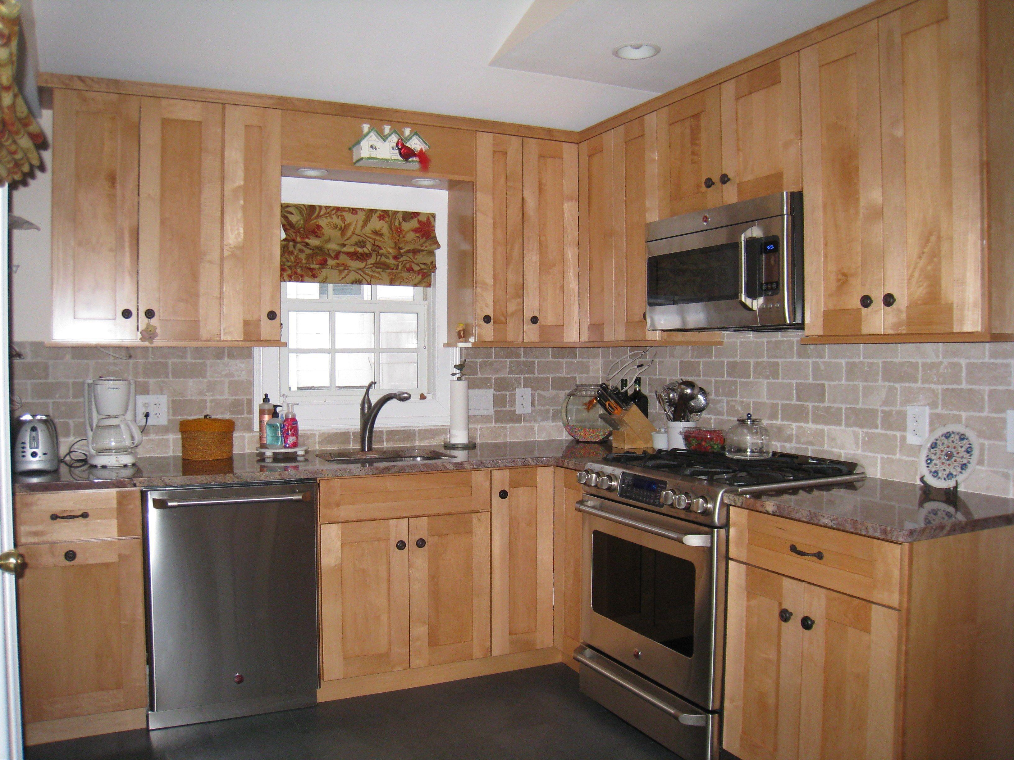 kitchen counters and backsplash Kitchen cabinets