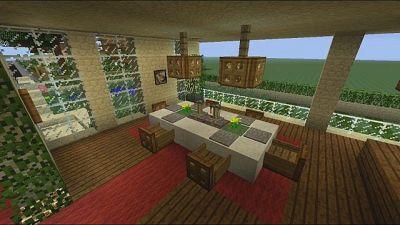 Architecture:Mesmerizing Minecraft Dining Area Interior ...