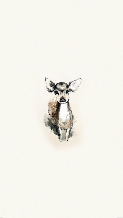 Tiny Deer Illustration iPhone 6 wallpaper | nice | Pinterest | iPhone wallpapers, Deer and Deer ...