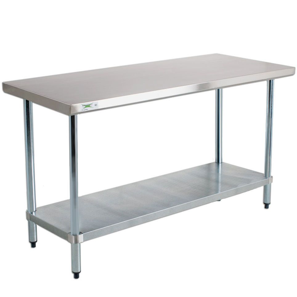 kitchen work table Regency 18 Gauge Stainless Steel Commercial Work Table 30 72 with