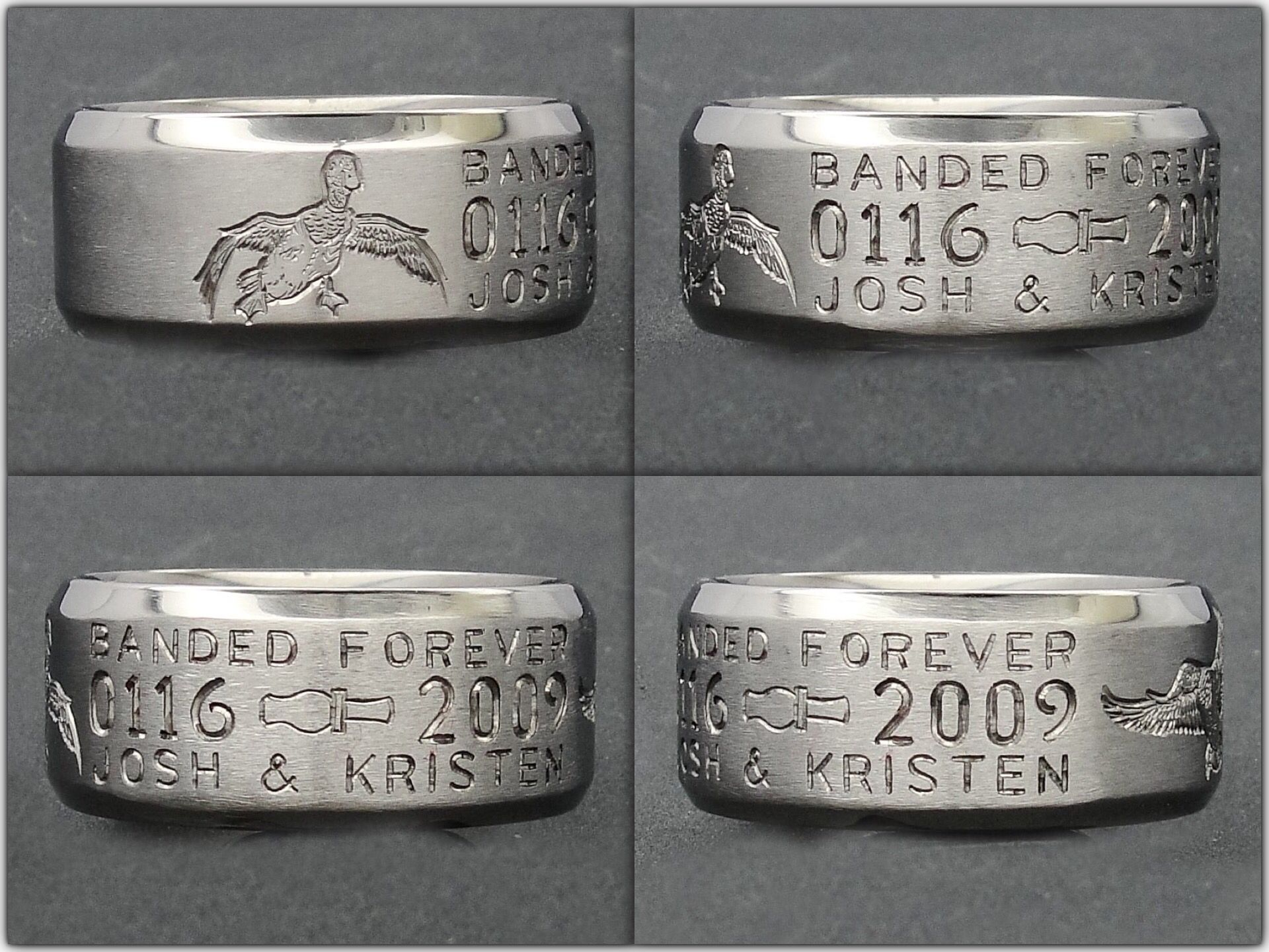 hunting wedding rings outdoorsman wedding band Awsome Duck hunting Wedding Ring