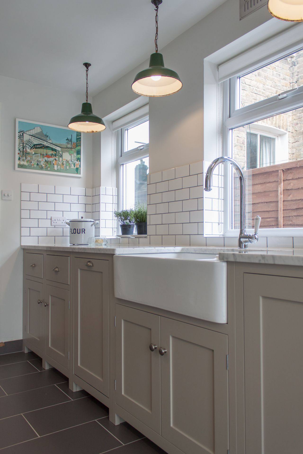 farmhouse faucet kitchen Kitchen Interior Kitchen White Rectangle Farmhouse Sink With High With Kitchen Hanging Lighting Decors Wonderful Gall Curved Faucet In Chrome As Well As