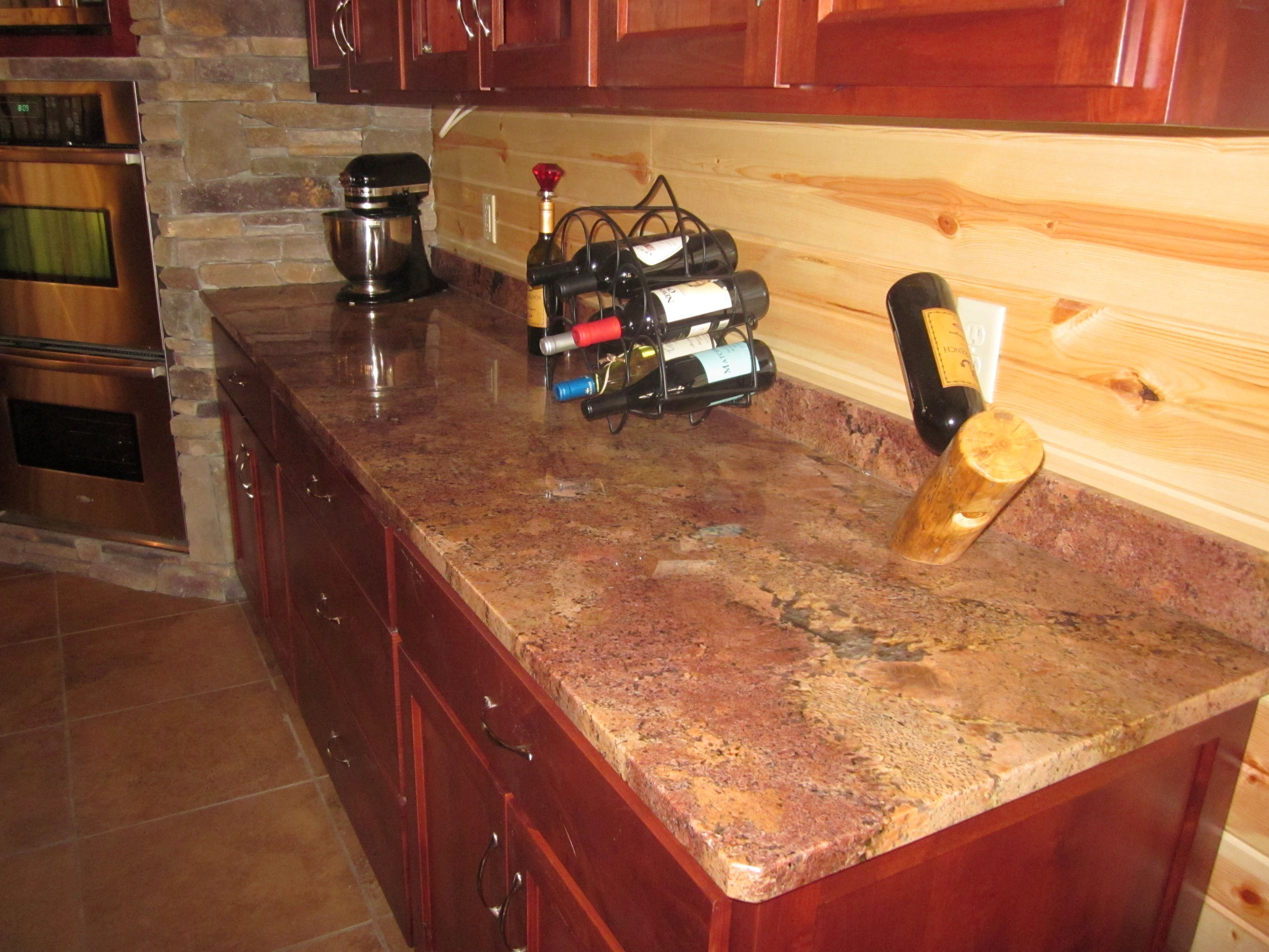 vibrant red granite kitchen countertops countertops for kitchens Beautiful Bordeaux red granite countertop