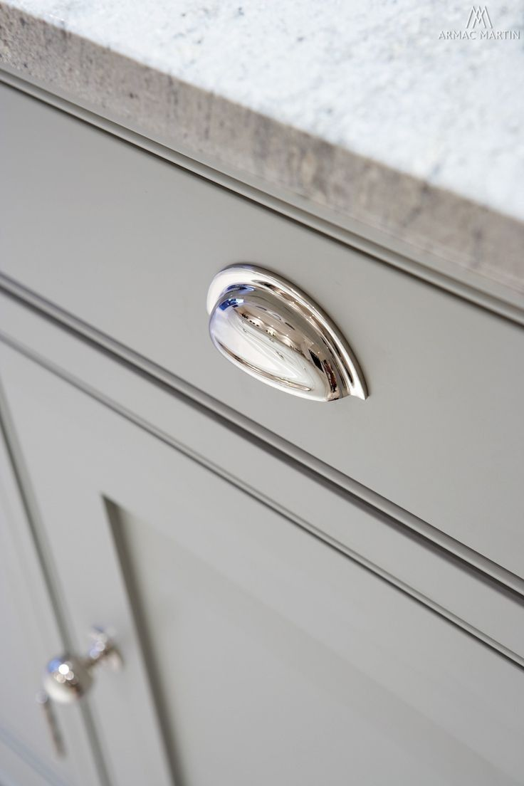 kitchen cabinet drawer pulls Armac martin cotswold cup pull drawer handle Kitchen Cupboard