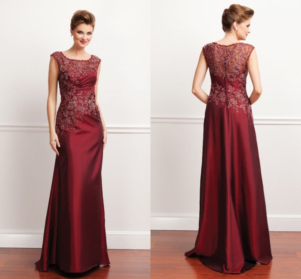 mothers dress for a wedding mothers dress for wedding cheap cap and gown pattern buy quality cap sleeve sheath dress directly from china cap sleeve wedding dress suppliers burgundy taffeta and lace cap sleeve