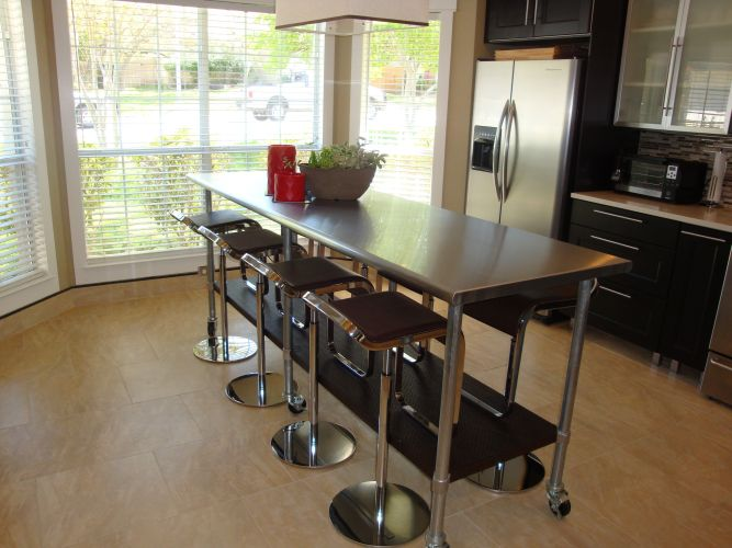 stainless steel table kitchen prep tables Kitchen Island Table We ve had this for a few years and this is