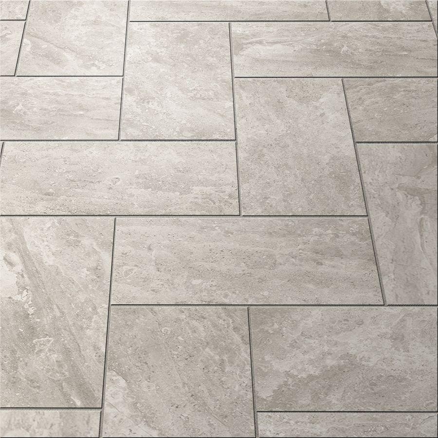 lowes kitchen flooring Shop Style Selections Trailden Gray Ceramic Indoor Outdoor Floor Tile Common 12
