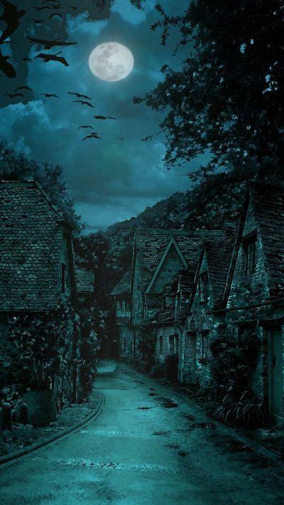 The dark village #iPhone #5s #Wallpaper   http://www.ilikewallpaper.net/iphone-5-wallpaper ...