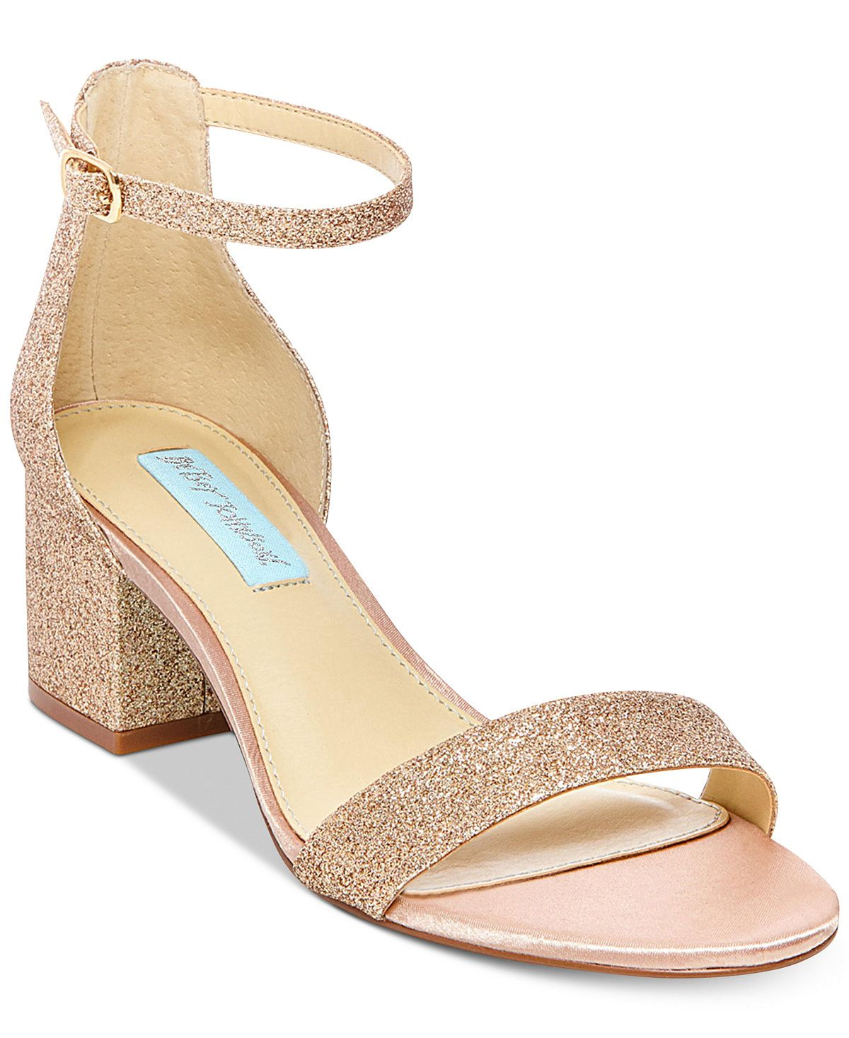betsey johnson wedding shoes Blue By Betsey Johnson Miri Evening Sandals A Macy s Exclusive Style