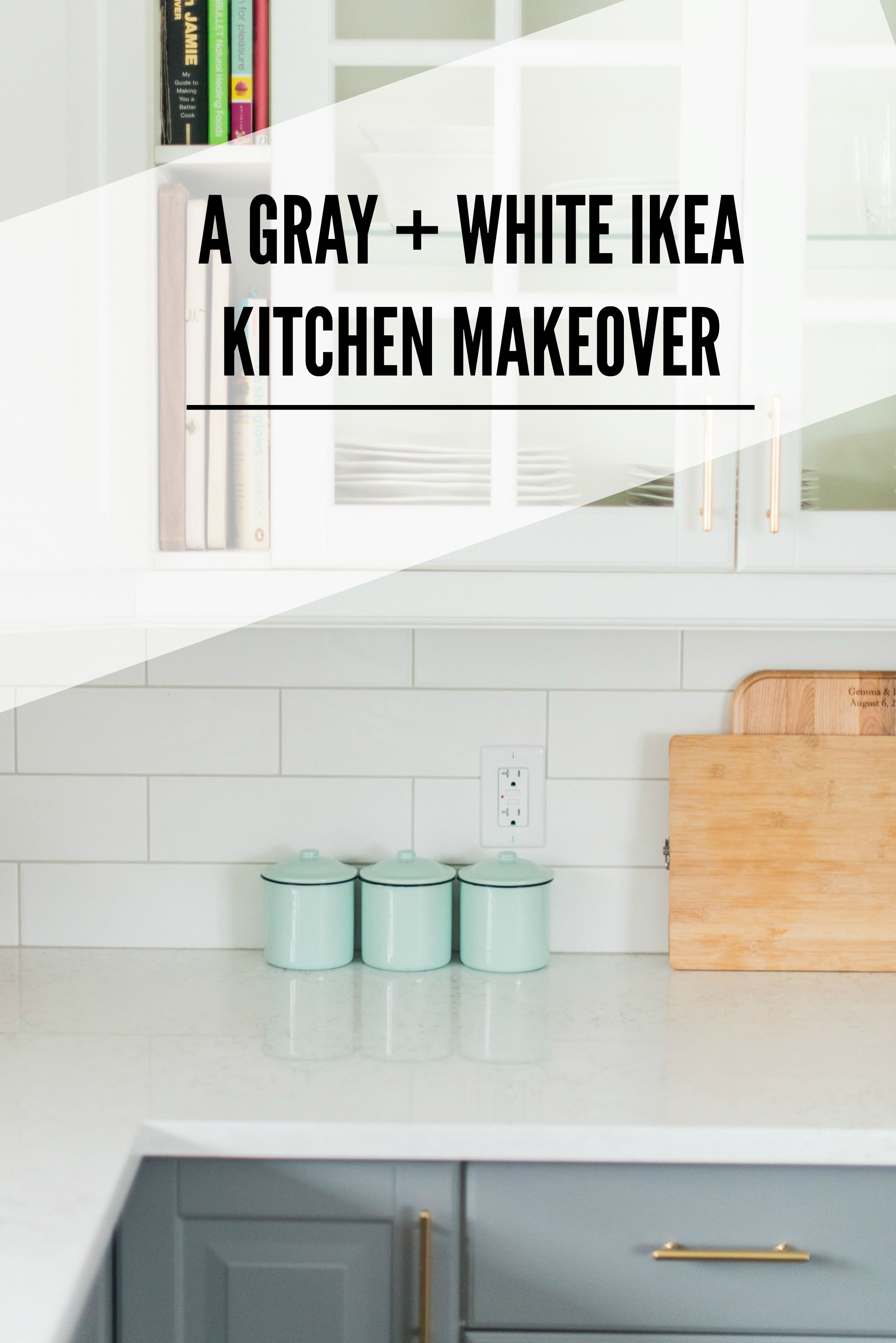 inexpensive kitchen remodel A Gray and White IKEA Kitchen Transformation Budget Kitchen RemodelKitchen