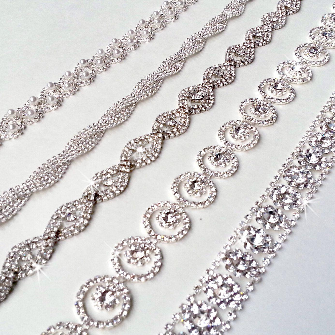 wedding belts for dresses Glamorous Rhinestone Bridal Belt Sash Custom Ribbon White Ivory Silver Crystal Wedding Dress Belt Extra Long