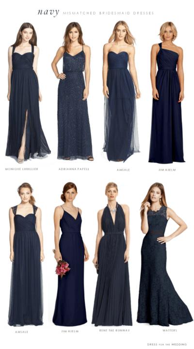 Navy Bridesmaid Dresses on Pinterest | Navy Bridesmaids ...