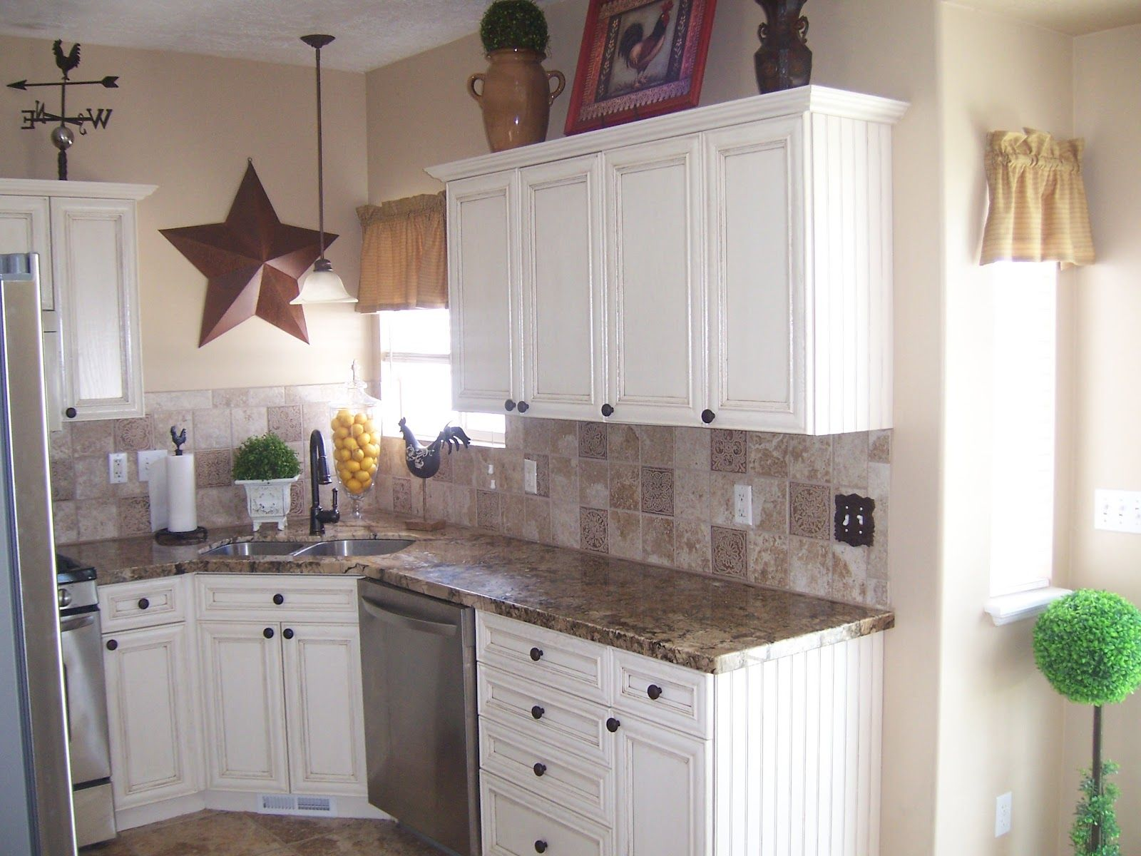 kitchens with white cabinets white cabinets with laminate countertops Laminate counter tops were replaced with a beautiful granite
