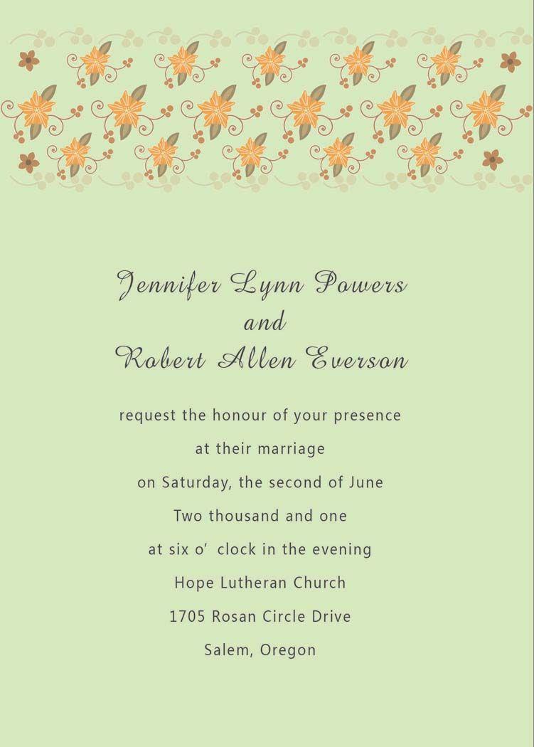spanish wedding invitations Wedding Invitations In Spanish Text