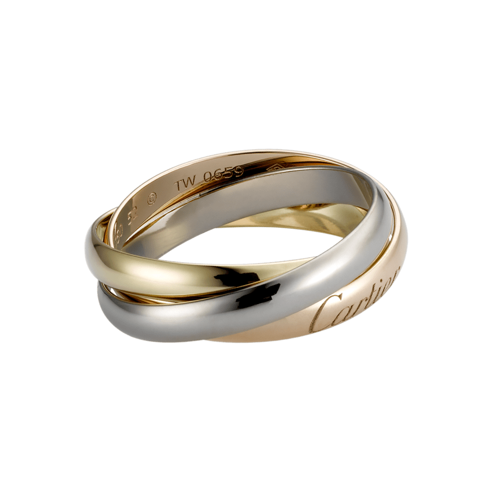 cartier mens wedding band Trinity ring 3 gold REF B Three bands Three types of gold Wedding Bands For MenWedding