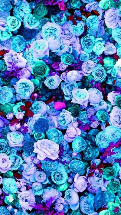 Mint blue lilac teal pink peonies roses floral iphone phone wallpaper background lock screen ...